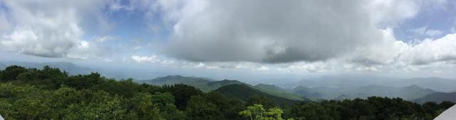 View from Brasstown Bald, highest elevation in Georgia